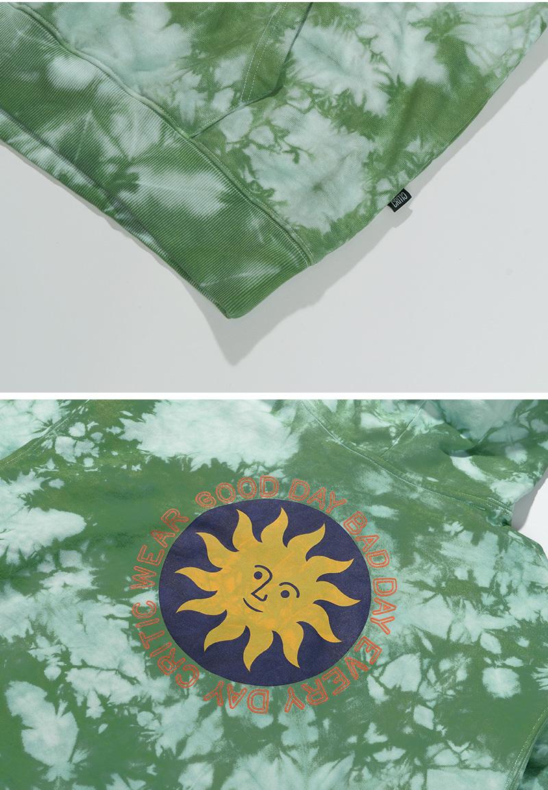 TIE DYE SUN HOODIE(OLIVE GREEN)_CTTZPHD01UG4