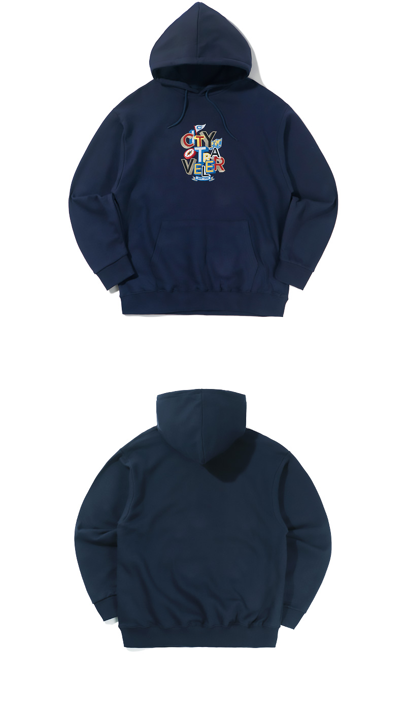 CITY TRAVELER EMBROIDERY HOODIE(NAVY)_CTTZPHD02UN0