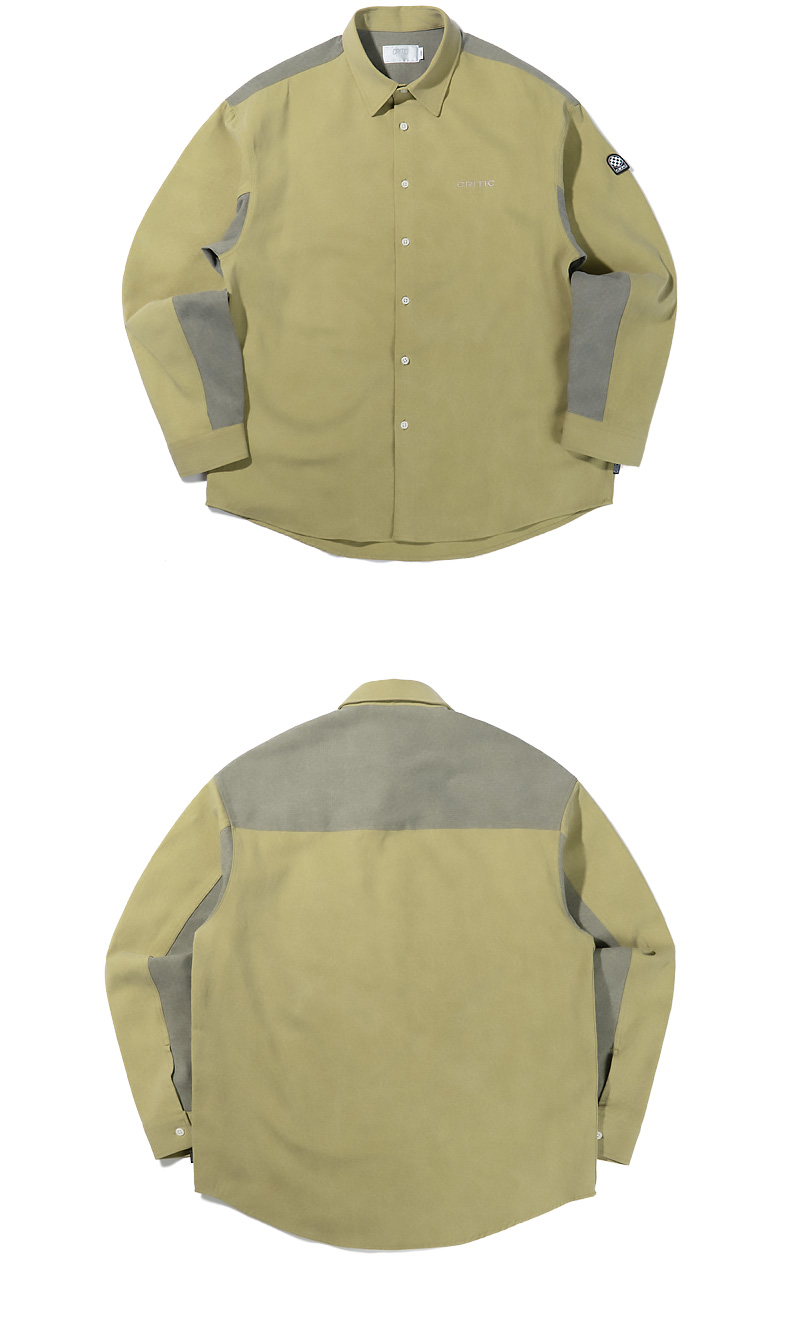 TWO TONE PIGMENT SHIRTS(MUSTARD)_CTTZPLS01UY2