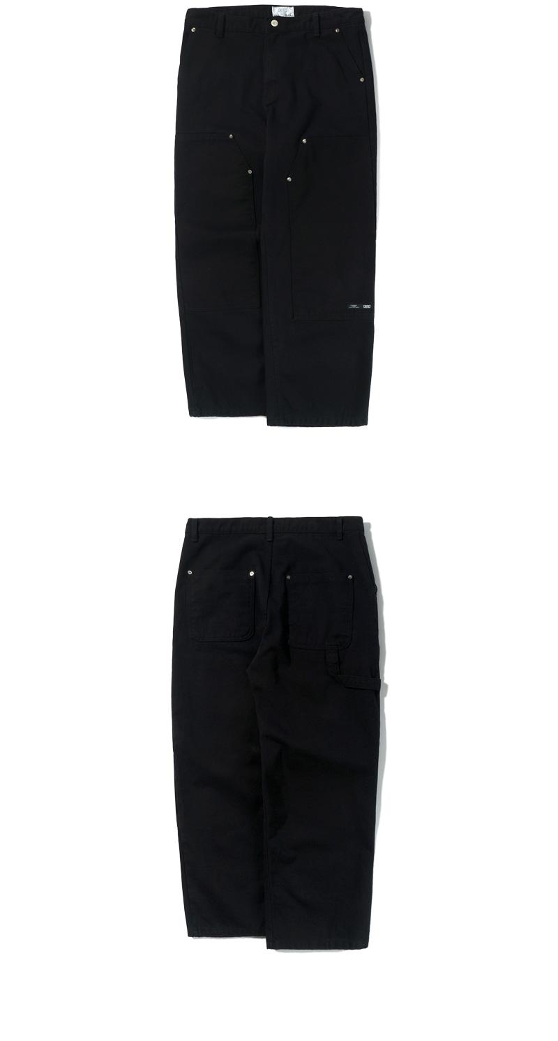TWILL WORK PANTS(BLACK)_CTTZPPT05UC6