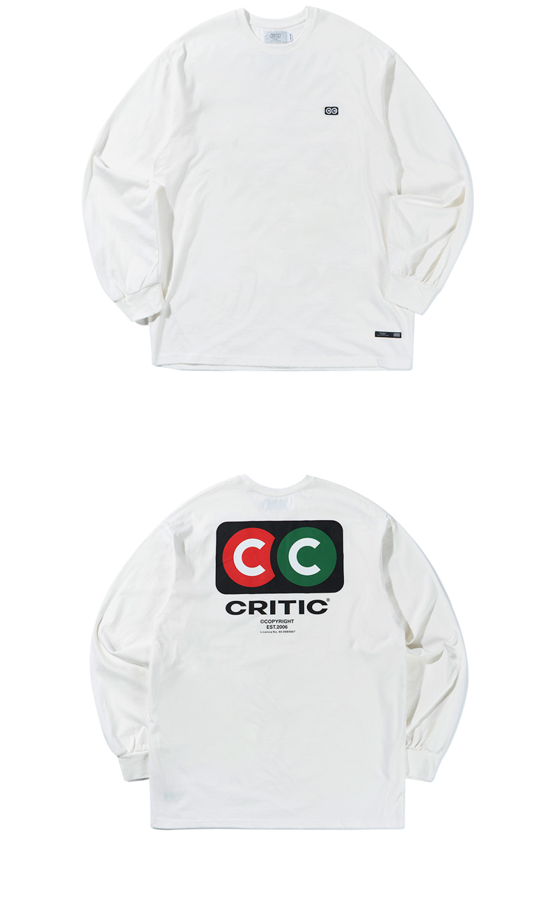 TRAFFIC SIGN LONG SLEEVE(WHITE)_CTTZPRL03UC2