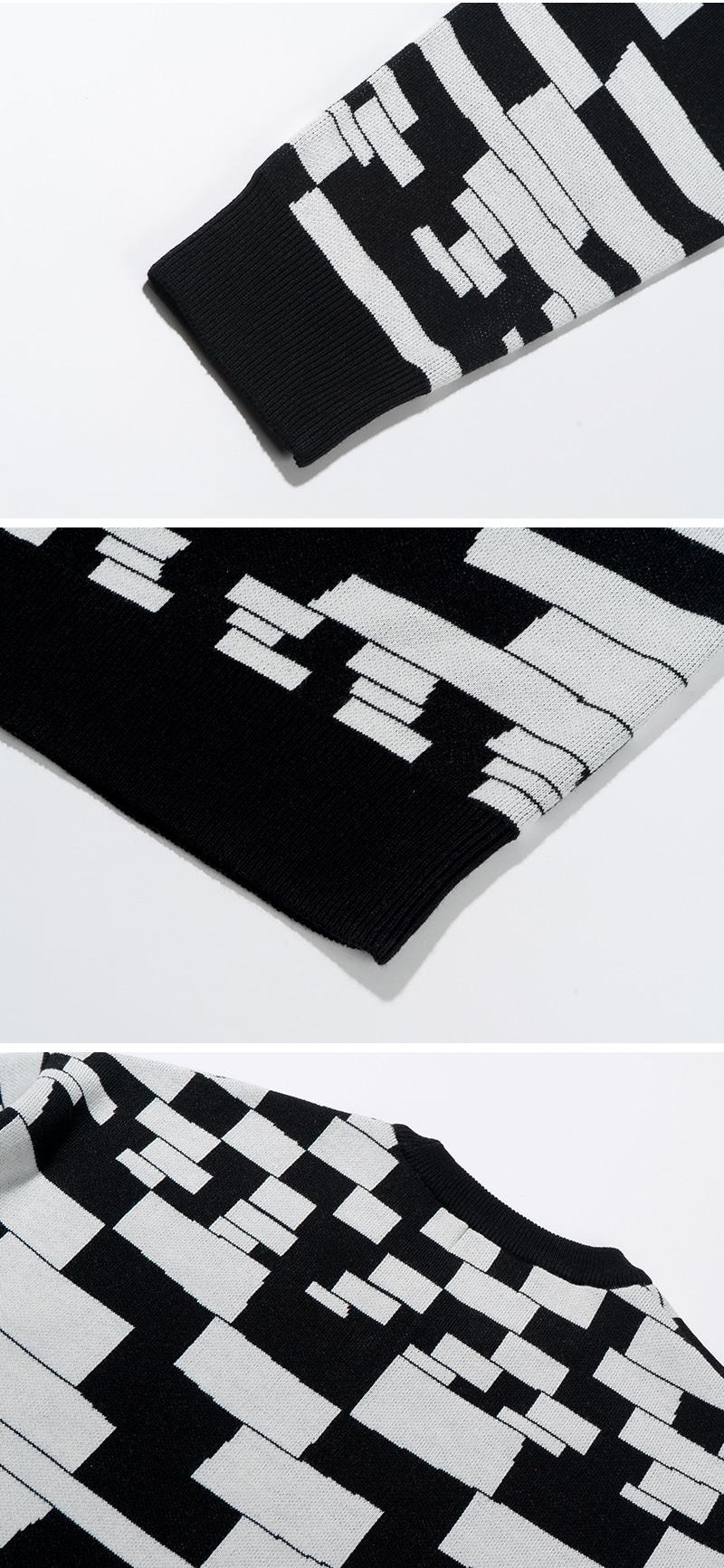 CHECKER BOARD KNIT(BLACK)_CTTZPNT01UC6