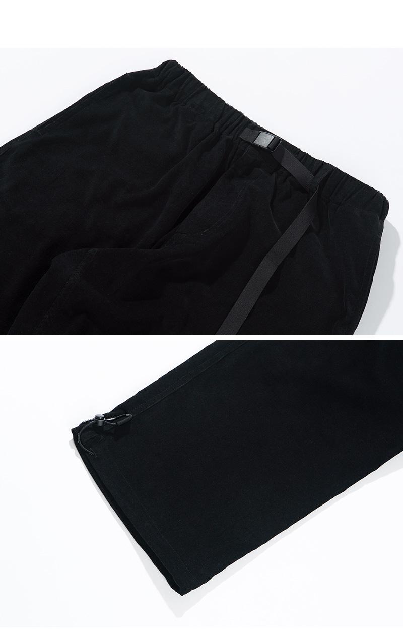 CORDUROY EASY PANTS(BLACK)_CTTZPPT09UC6