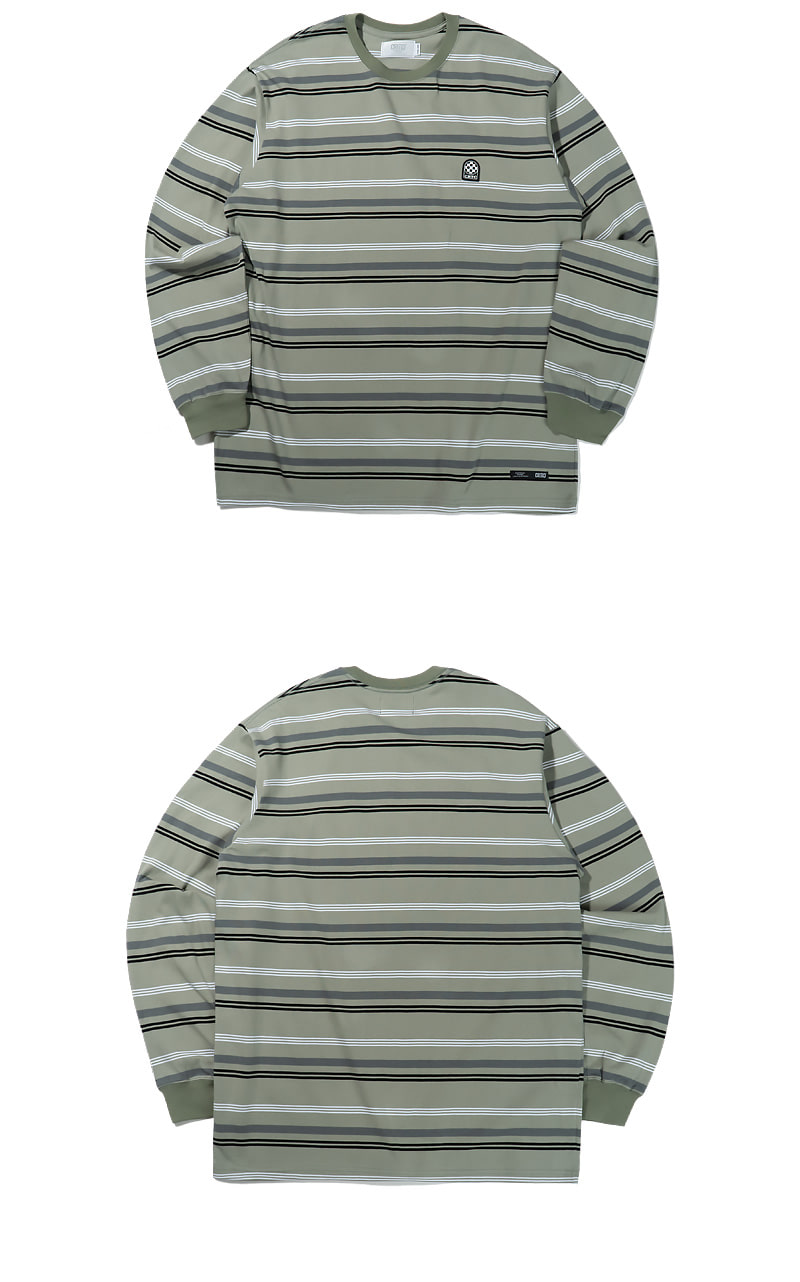 WAPPEN STRIPE LONG SLEEVE(DARK MINT)_CTTZPRL05UG6