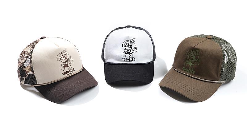 TRAVELER TWILL MESH CAP(BLACK)_CTTZUHW05UC6