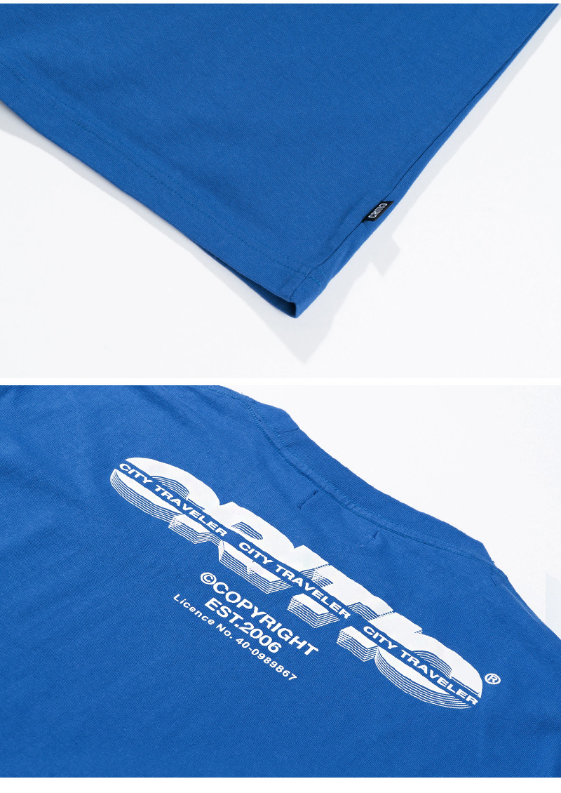 SPLIT LOGO T-SHIRT(ROYAL BLUE)_CTTZURS03UB3