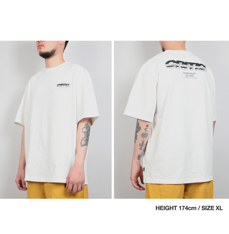 SPLIT LOGO T-SHIRT(BLACK)_CTTZURS03UC6