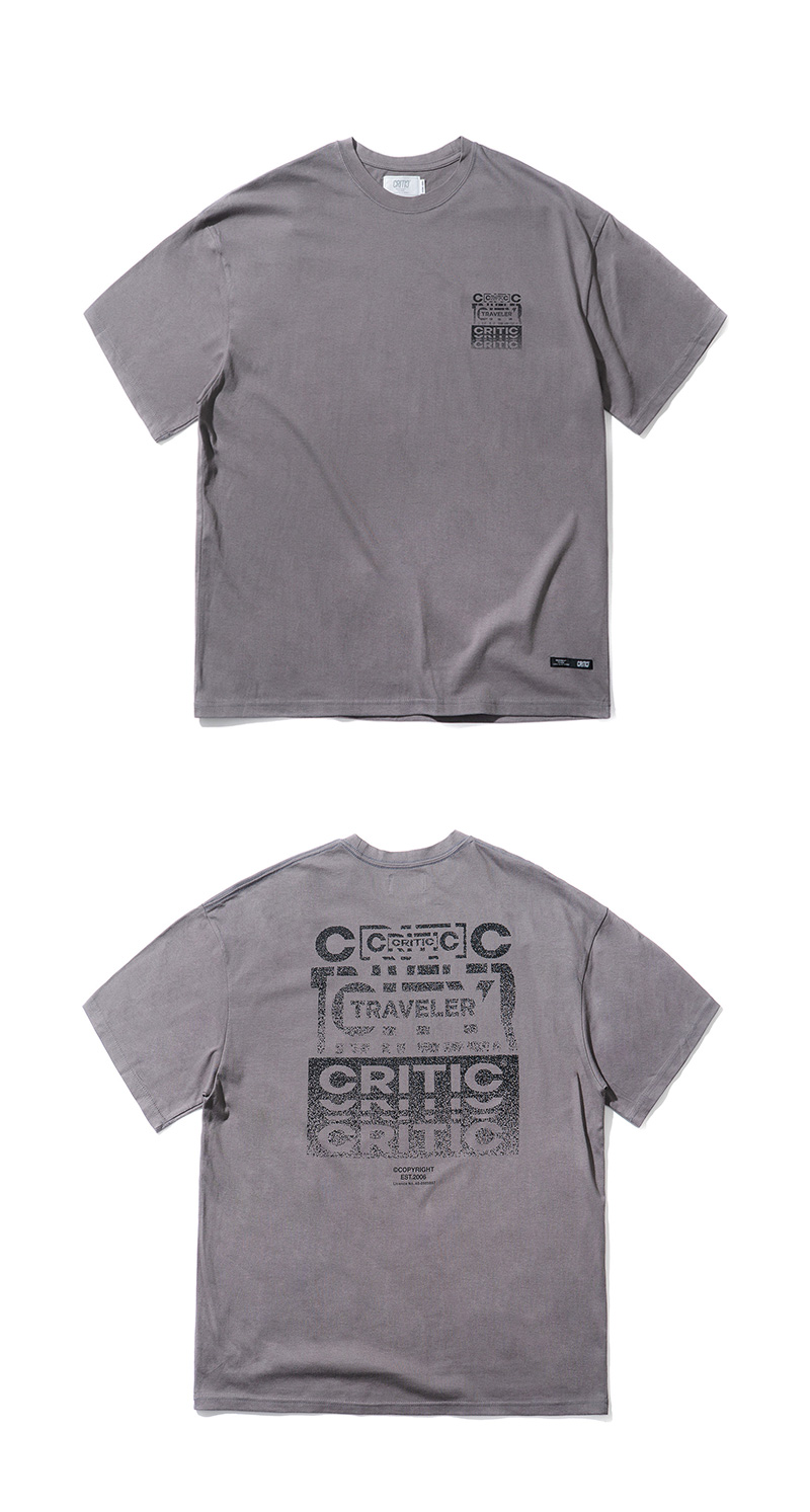 BACKSIDE TRAVELER LOGO T-SHIRT(CHARCOAL)_CTTZURS27UC4