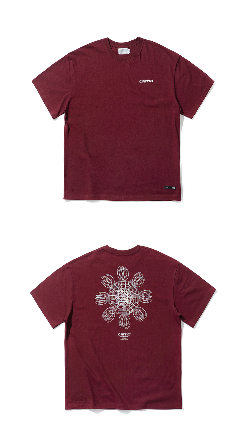 ICE CRYSTAL LOGO T-SHIRT(BURGUNDY)_CTTZURS07UP3