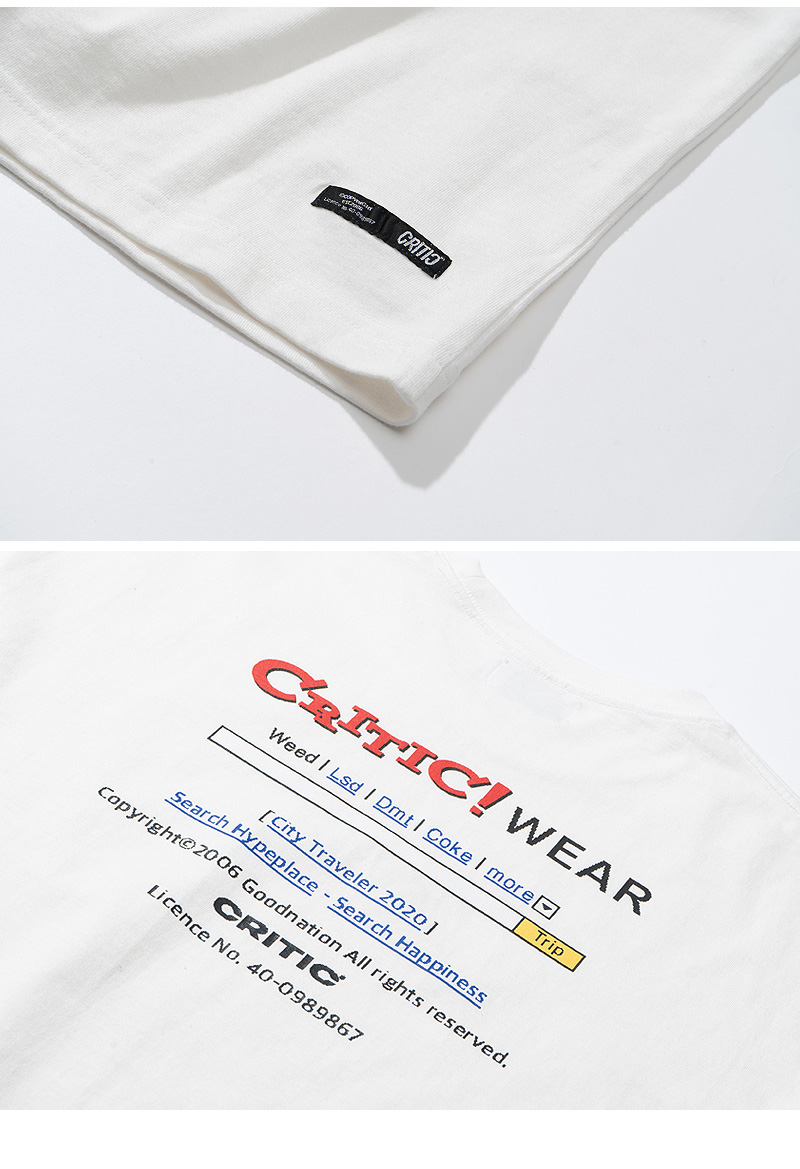SEARCH ENGINE T-SHIRT(WHITE)_CTTZURS04UC2