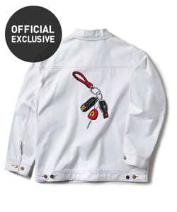 [오피셜 단독]MASTER KEYS TRUCKER JACKET (WHITE)_CTOEPJK01MC2