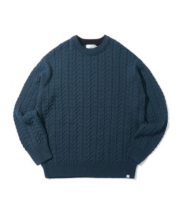 CRT CABLE KNIT(FOREST GREEN)_CRONINT03UG1