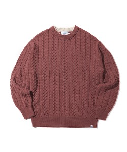 CRT CABLE KNIT(BURGUNDY)_CRONINT03UP3