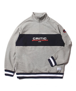 CSW HALF ZIP SWEAT SHIRT(GRAY)_CTOEACR05UC4