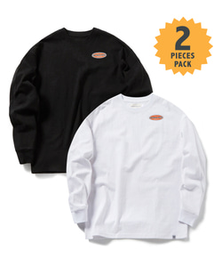 STANDARD MFG LONG SLEEVE T-SHIRT(WHITE/BLACK)_CMOGPRL31UWB