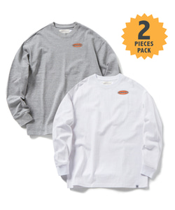 STANDARD MFG LONG SLEEVE T-SHIRT(GRAY/WHITE)_CMOGPRL31UGW