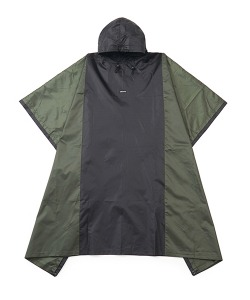 TWO FACE LOGO PONCHO(BLACK)_CTONPJK07UC6