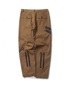 MULTI ZIP BONDAGE PANTS(BROWN)_CTONPPT08UE2