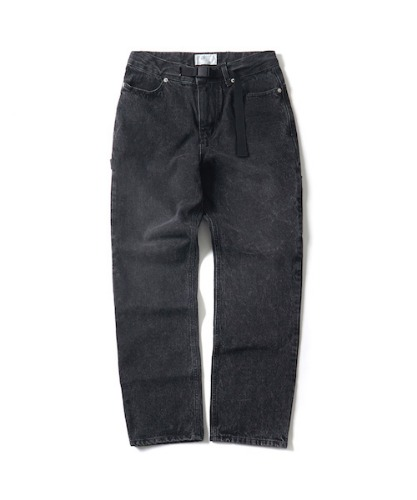 WASHED DENIM WORK PANTS(BLACK)_CTONPPT04UC6