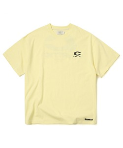 [4/22 예약 배송] BIG C LOGO T-SHIRT(PASTEL YELLOW)_CTONURS15UY3