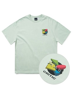 MAUI X CRITIC BLOCK T-SHIRT(L/MINT)_CSONURS09UG5