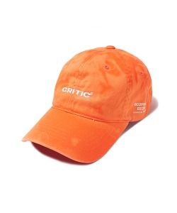 WASHED LOGO BALL CAP(ORANGE)_CTONUHW03UO0