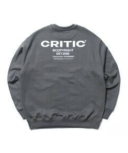BACKSIDE LOGO GRID SWEATSHIRT(D/GRAY)_CTONACR05UC0