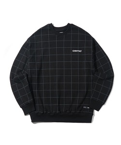 BACKSIDE LOGO GRID SWEATSHIRT(BLACK)_CTONACR05UC6