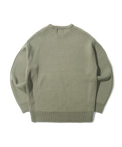 CRT ROUND NECK KNIT(KHAKI)_CRONINT04UK0
