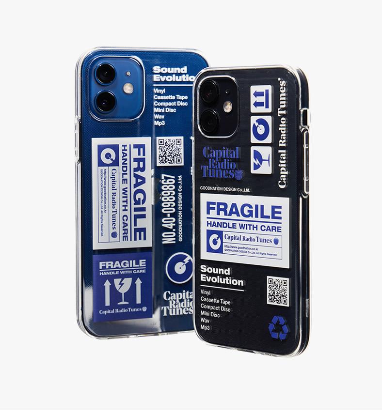 캐피탈 라디오 튠즈(CAPITAL RADIO TUNES) DESCRIPTION FRAGILE IPHONE 12 CASE(CLEAR)_CRTOUHC02U